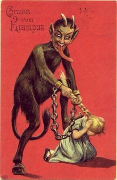 "Creepy Krampus – 30 Vintage Postcards of the ""Devil Santa Claus from Europe"" That Will Haunt Your Dreams ~ vintage everyday"