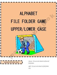 Alphabet File Folder Game Soccer
