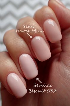 Semilac 032 Biscuit lakier hybrydowy hybryda Mani Pedi, Manicure, Nails, Paws And Claws, Shellac, Nail Colors, Nail Designs, Make Up, Pretty