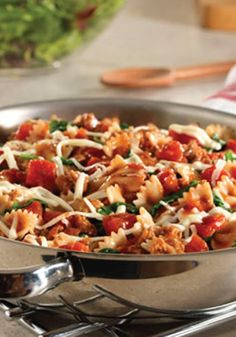 This Italian Pasta Skillet is quick, easy and delicious – perfect for a summer dinner recipe!