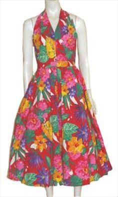 Melissa Floral Print Vintage 80s Dress  $49.00