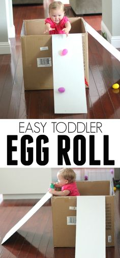 This is such a fun and easy toddler game to play with plastic eggs.