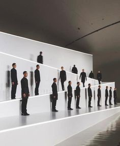dior homme f/w 2013, runway finale. idea for mannequin placement