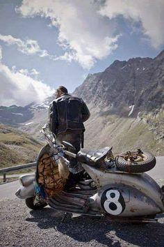 Vespa Faro Basso in the Alps