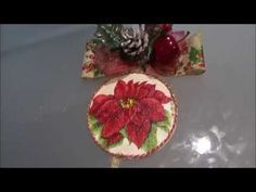Recilado de CD para colgante navideño con decoupage - YouTube