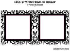 Free Printable Candy Buffet Labels | Black & White Damask Printable Downloads
