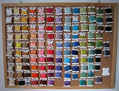 cajunmama: embroidery floss (by whimsiology) Ooh- I might need to steal this idea! Embroidery floss on a cork board. I love that you can see everything at once.