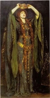 John Singer Sargent, Ellen Terry as Lady Macbeth  Wow, what a gown. Doll clothes prehaps.