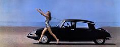 1969 CitroenDS21 - girl and beach