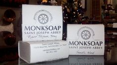 Everyone MUST HAVE a bar of Monk Soap made by Brother Andrew at St. Joseph's Abbey! My favorite scents...New Mown Hay and Francinsens and Myrhh!