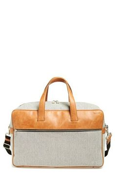 Jack Spade 'Fairfield' Duffel Bag available at Canvas Backpack, Backpack Bags, Leather Briefcase, Leather Bags, Duffel Bag, Weekender, Jack Spade, Men's Backpacks, Prada Men