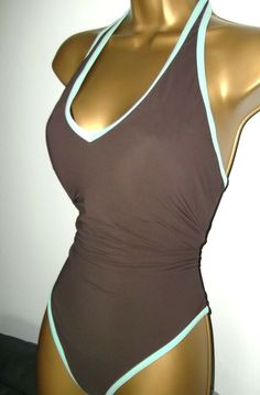1cfee8e360 SEXY LADIES DEBENHAMS BROWN PADDED HALTERNECK SWIMSUIT SIZE 16 #fashion  #clothing #shoes #accessories #womensclothing #swimwear (ebay link)