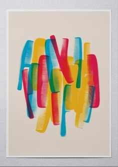 COLOUR COMBS   Colourful Indian markets, bursting at the rims with many plastic solutions to simple needs, inspire Lokesh Karekar. Behold, the Colour Combs.    #ThisIsArt ● #ArtOfOurTimes ● Own it & #SupportTheArtist Theme - Living in Colour   Artist - Lokesh Karekar    A4/ A3/ A2    ☏ (+91) 22 26550982   