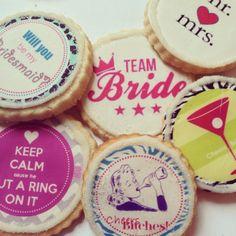 Custom Wedding Cookies Debut at Hilton Bridal Preview   Fashionably Sweet Treats™ #weddingfavor #bridalshower #bacheloretteparty #teambride #bridemsaidproposal #customcookies #fstreats