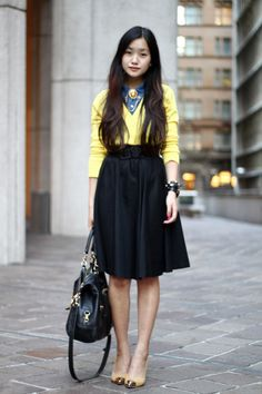 #yellow #skirt #necklace #style #girl #asian