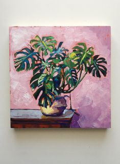 Sari Not Sorry Art from Sari Shryack — Rubber Tree Plant art design landspacing to plant Plant Painting, Plant Art, Painting & Drawing, Abstract Tree Painting, Diy Painting, Abstract Art, Small Canvas Art, Guache, To Infinity And Beyond