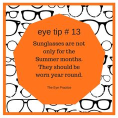 This is what I tell everyone! Invest in a good pair of sunglasses. Mission Creek Optometry has a great selection.