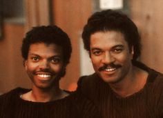 Billy Dee Williams and his son -Star Wars V, VI Black Actors, Black Celebrities, William Actor, Walt Disney, Billy Dee Williams, Star Wars Pictures, Bts Pictures, Princesa Leia, Stunt Doubles
