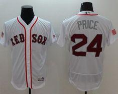 cfaf52776 2016 MLB FLEXBASE Boston Red Sox 24 Price White Fashion Jerseys