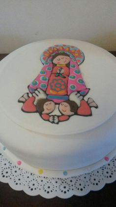 Torta Virgen para Comunión.