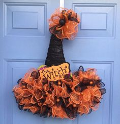 Excited to share this item from my shop Witch Hat Wreath Witches Hat Door Hanger Halloween Decor Halloween Wreath Witches Hat Halloween mesh Wreath Halloween Wreath witch Dollar Tree Halloween, Halloween Crafts, Halloween Decorations, Fall Crafts, Halloween Goodies, Halloween Gourds, Halloween Season, Halloween 2017, Halloween Halloween