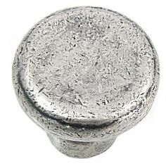 MNG Hardware 2 in. Distressed Pewter Large Riverstone Button Knob-84364 - The Home Depot
