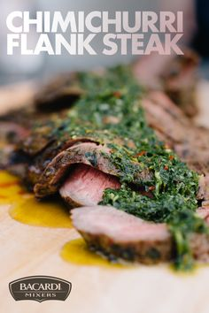 If there's one recipe that's easy to make—and even easier to enjoy—it's our Chimichurri Flank Steak. It's simple! Marinate your flank steak in parsley, olive oil, lime juice, garlic, red pepper flakes, salt and pepper and grill as long (or short) as you like for a delicious, zesty treat everyone will love!