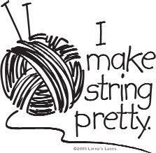 Ball of yarn without the wording.