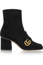 GucciFringed suede ankle boots