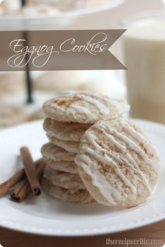 Eggnog Cookies :  These cookies are absolutely delicious and they make a perfect holiday cookie!