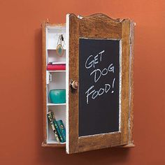 medicine cabinet  turned into message center; could use anywhere in the house, even the garage! DIY by This Old House