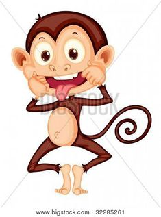 Illustration of a monkey on white - EPS VECTOR format also available in my portfolio Poster Poster. Monkey Drawing, Monkey Art, Cartoon Wolf, Cartoon Monkey, Pretty Pictures, Funny Pictures, Monkey And Banana, Alien Tattoo, Dinosaur Funny