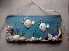 Collect the beach findings and learn the inspirational sea shell craft DIY ideas to convert them into innovative decorative pieces. They look marvelous, shell crafts Inspirational Sea Shell Craft DIY Ideas Sea Crafts, Rock Crafts, Diy And Crafts, Craft Projects, Crafts For Kids, Arts And Crafts, Craft Ideas, Glue Crafts, Canvas Crafts