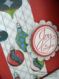 Customize Stampin' Up! Designer Series Paper with Glitter! Stampin Up Christmas, Christmas Crafts, Diamond Glitter, Santa Letter, Your Cards, Card Ideas, Crochet Earrings, Letters, Cool Stuff