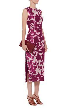 Silk Cotton Floral Shadow Print Dress by PRABAL GURUNG Now Available on Moda Operandi