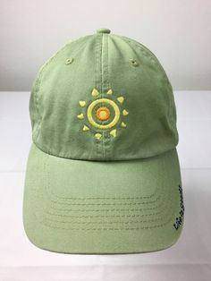 999535f13fde6 Life Is Good Green Sun Jake Embroidered Strapback Adjustable Baseball Hat  Cap  LifeisGood  BaseballCap