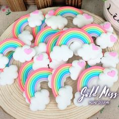 Rainbow Clouds Pink Yellow Green Blue Purple Gray Heart Clouds Rainbow Party Rainbow Slime Colorful Party Clouds in the Sky Slime Kit // Rainbow Parties, Rainbow Birthday Party, Sweet 16 Birthday, Birthday Balloons, Rainbow Slime, Rainbow Cloud, Rainbow Baby, Barbie Birthday, 1st Birthday Girls