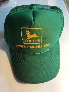 newest 0e4b1 e2b4b Vintage John Deere Mesh Trucker Hat Nothing Runs Like A Deere NISSUN CAP   fashion