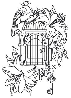 Bird Uncaged | Urban Threads: Unique and Awesome Embroidery Designs
