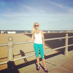 Me on the boardwalk in Virginia Beach!