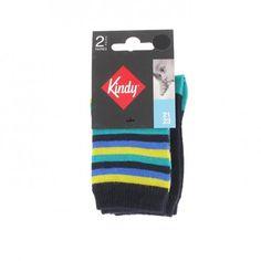 Lot de 2 paires de chaussettes fantaisies en coton - Kindy