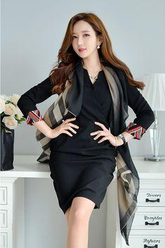 Beauty collection Korean Fashion Work, Womens Fashion For Work, Asian Fashion, Girl Fashion, Korean Beauty, Asian Beauty, Asian Woman, Asian Girl, Beautiful Asian Women