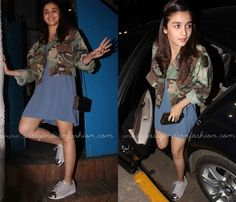 Alia Bhatt Shoe Style, Alia Bhatt in Sneakers, Alia Bhatt Short Dress and Sneaker Shoes