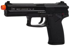The KWA H&K US SOCOM is one of the top guns around and it is easy to see why! Airsoft Gear, Tactical Gear, Lake Elsinore, Apocalypse Survival, Paintball, Revolver, Shotgun, Hand Guns, Pistols