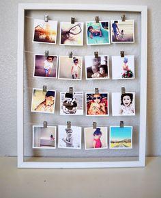 Foto appese dentro cornice | 30 Idee Uniche per Decorare le Pareti di Casa usando le Tue Foto - Roba da Donne