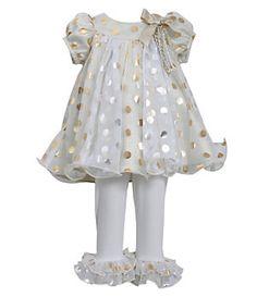 Bonnie Baby 3-24 Months Christmas Mesh Trapeze Dress & Ruffle Legging Set | Dillard's Mobile