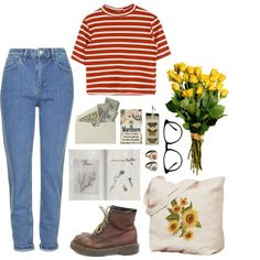 #18 by jen-mosh on Polyvore featuring Topshop, Dr. Martens, Rock 'N Rose, Inspired, mine and grunge