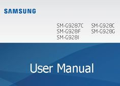 Samsung Galaxy S6 Edge+ Manual / User Guide PDF Download