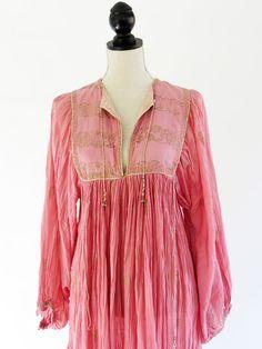 Thea's vintage - INDIAN COTTON DRESS www.theasvintage.com