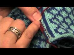 Crocheted steek - YouTube